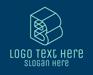 Isometric - 3D Letter B  logo design