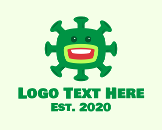 Covid19 - Green Virus Monster logo design