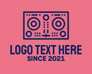 Dj - Minimalist DJ Mixer logo design