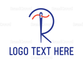 Alteration - Blue R Tailor logo design