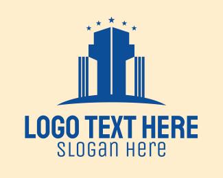 Condominium - Blue Star Condominium logo design