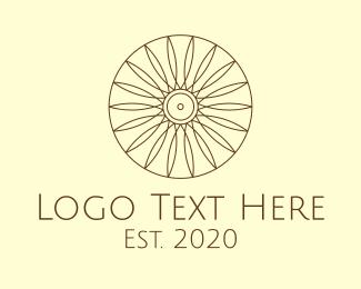 Wellness Center - Minimalist Sun Sunflower logo design