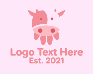 Dairy Farmer - Cow Udder Dairy logo design
