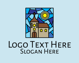 Minister - Parish Church Mosaic  logo design