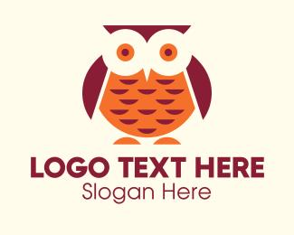 Fat - Chubby Owl Mascot logo design