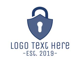 Secret - Lock Shield logo design