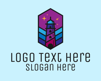 Shooting - Starry Night Lighthouse logo design