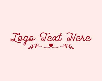Valentines Day - Romantic Valentine Wordmark  logo design