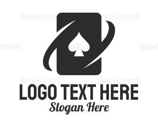 Chips - Black Spade Card logo design