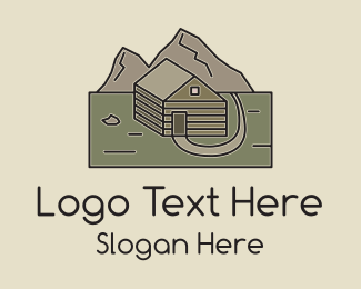 Mountain Climbing - Remote Mountain Cabin logo design