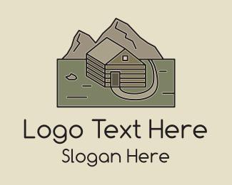 Explorer - Remote Mountain Cabin logo design