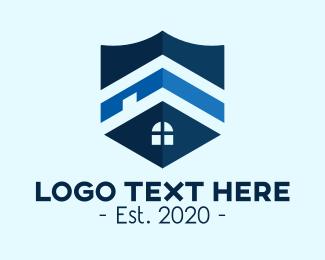 Insurance - Blue Home Insurance Shield logo design