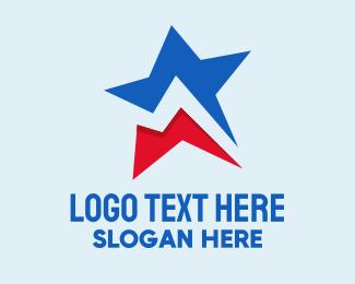 Puerto Rican - Geometric National Star  logo design