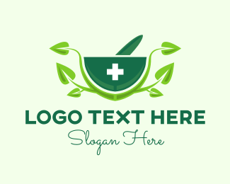Natural Medicine - Green Natural Pharmacy logo design