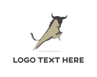 Cattle - Wild Jump logo design
