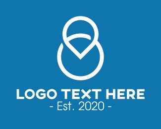 Numerical Digit - Locator Number 8 logo design