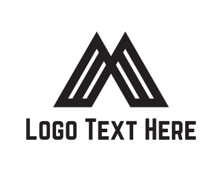 Gothic - Volcano Letter M logo design