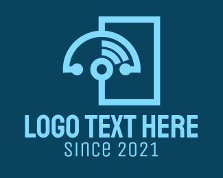Medical - Blue Stethoscope Signal  logo design