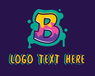 Lettering - Graffiti Letter B logo design