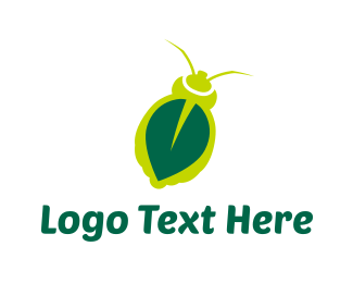 Green Insect - Leaf Insect  logo design
