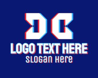 Twitch - Static Motion Letter DC logo design