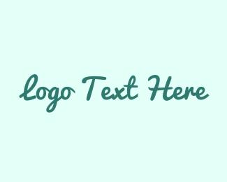 Twitter - Fresh Green Text Font logo design
