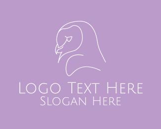 Barn Owl - Minimalist Barn Owl logo design