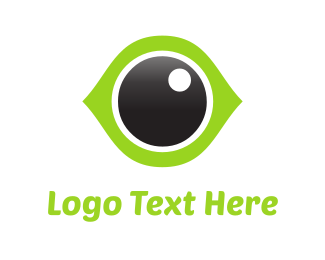 Sight - Green Eye logo design