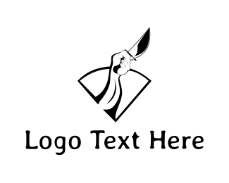 Hunter - Black Knife logo design