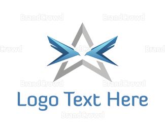 Airspace - Blue Birds Star logo design