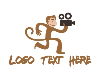 Cheeky - Monkey Film logo design