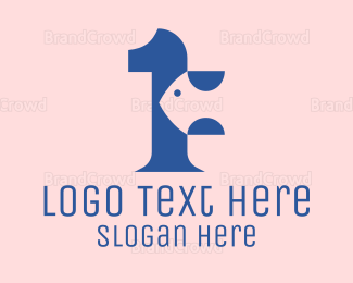 Crustacean - Modern Fish Number 1 logo design
