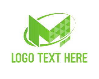 Motel - Tech Letter M logo design