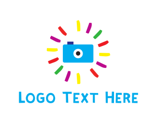 Image - Blue Camera & Flash logo design
