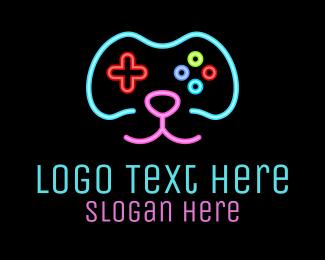 Apps - Gaming Dog Face logo design