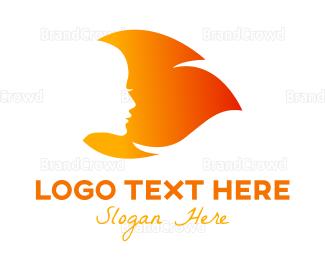 Woman - Fire Woman logo design