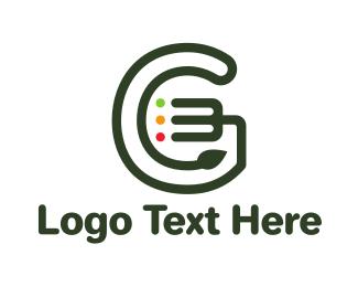 Green Fork - Leaf Fork G logo design