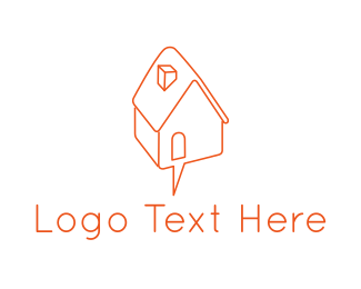 Message - House Chat logo design