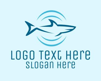 Shark - Shark Hunting Sonar logo design