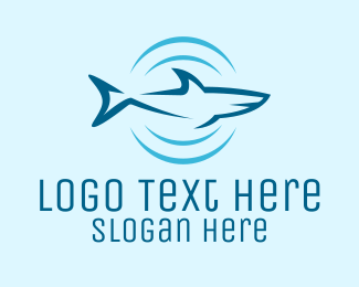 Hunting - Shark Hunting Sonar logo design