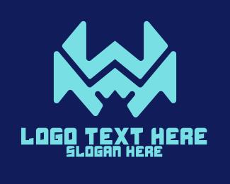 Software Developer - Modern Digital Letter W logo design