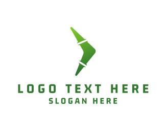 Boomerang - Green Boomerang logo design