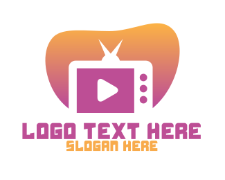 Video - TV Channel Video Media logo design