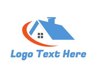 Rent - Crescent House logo design