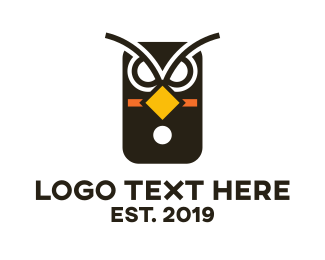 Beak - Owl Phone  logo design