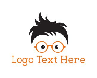Intelligent - Geek Eyeglasses logo design