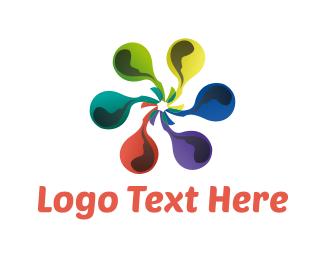 Inkjet - Ink Flower logo design