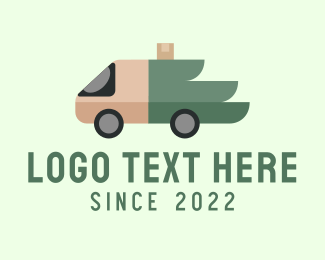 Pickup - Wing Truck Delivery logo design