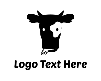 Dairy - Black Cow logo design