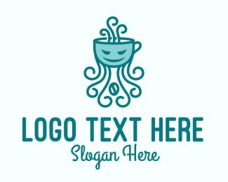 Tentacles - Kraken Coffee Cup logo design